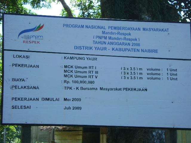 Sima Distrik Yaur Nabire Papua